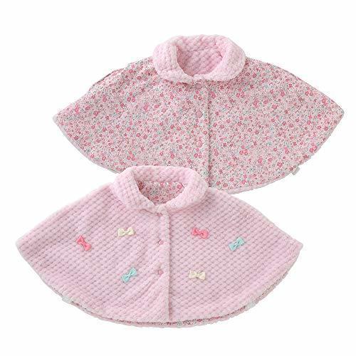 (チャックルベビー) chuckle BABY スウィートガールリバーシブルマント 60-90cm(ワンサイズ) ピンク P5442-00-20,赤ちゃん,ポンチョ,