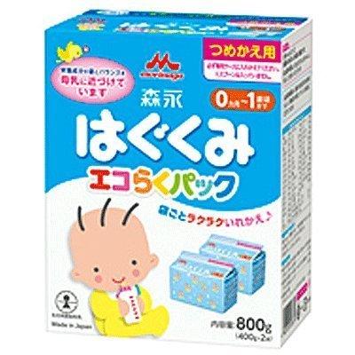 森永 エコらくパック つめかえ用 はぐくみ 800g (400g×2袋)6個セット,粉ミルク,ランキング,