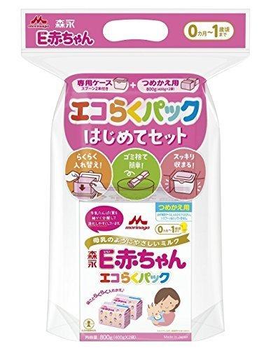 森永 エコらくパック はじめてセット E赤ちゃん 800g (400g×2袋),粉ミルク,ランキング,