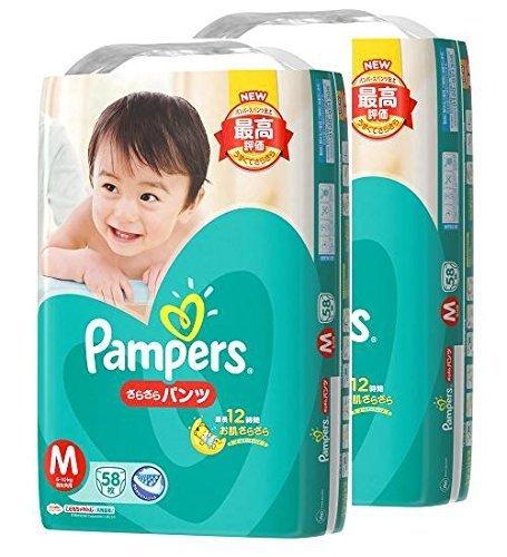 【ケース販売】 パンパース オムツ パンツ さらさらパンツ M(6~10kg) 116枚 (58枚×2パック),おむつ,ランキング,