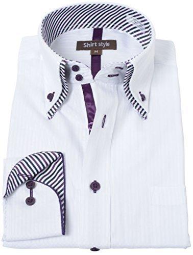 ワイシャツ メンズ 白 ビジネス ボタンダウン 長袖 おしゃれ クールビズ ビジネスシャツ スリム 細身,出産,退院,服装