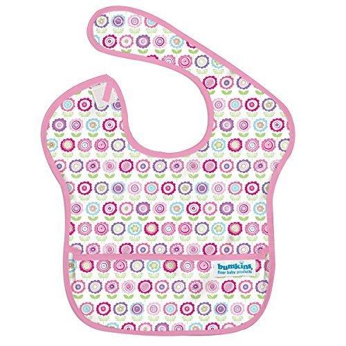 バンキンス スーパービブ/スタイ【日本正規品】洗濯機でも洗える お食事用防水ビブ 6~24ヶ月 Bloom(ピンク) S-750,離乳食,エプロン,