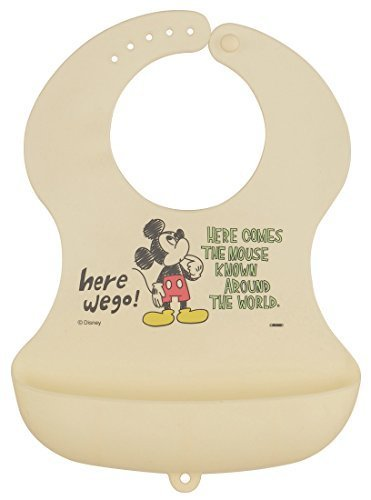 SKATER ミッキーマウス スケッチ シリコン ベビーエプロン スタイ SBEP1,離乳食,エプロン,