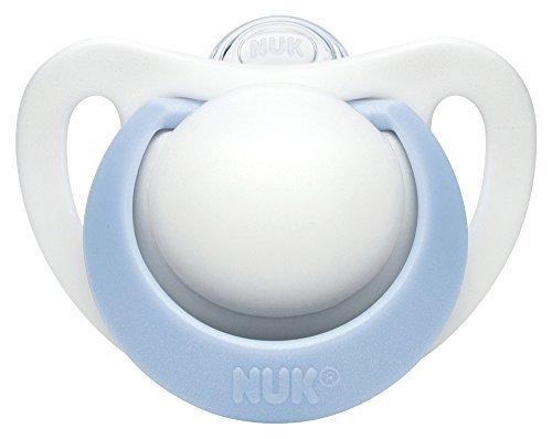 NUK おしゃぶり ジーニアス 2.0 (キャップ付)【0~6ヶ月】/シリコーン ブルー S OCNK0230102,赤ちゃん,おしゃぶり,