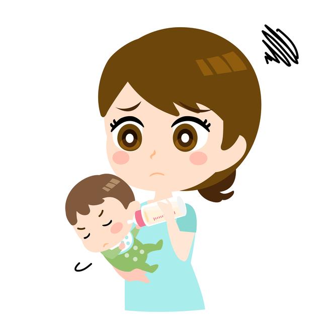 哺乳瓶を嫌がる赤ちゃんイメージ,使い捨て,哺乳瓶,