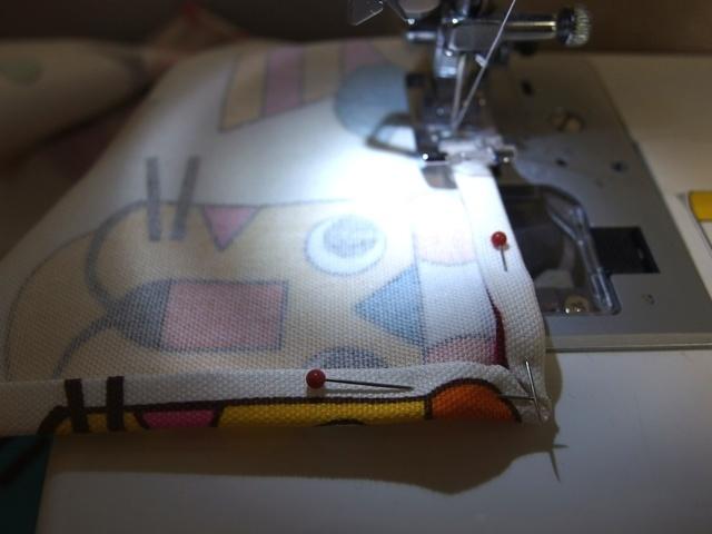【3】ミシン縫い,ランチョンマット,作り方,