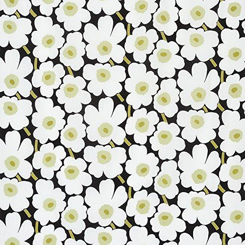 ハーフカットクロス marimekko(マリメッコ) MINI UNIKKO(ミニウニッコ) ブラック&ホワイト 約70cm×50cm,ランチョンマット,作り方,