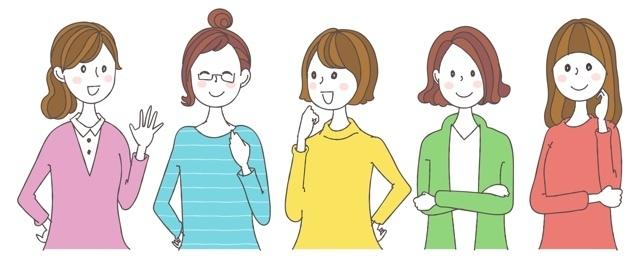 5人の女性,