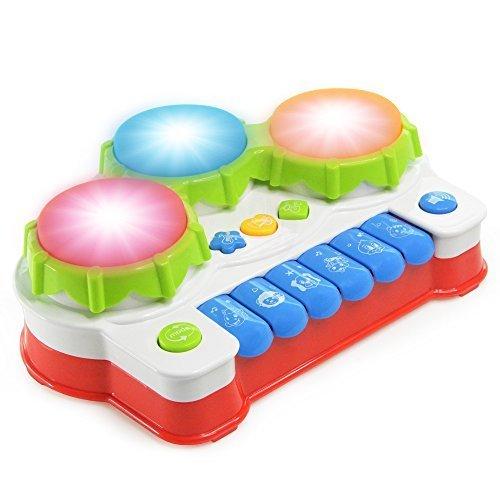 NextX ドラム おもちゃ 赤ちゃん 多機能 キーボード 知育 玩具 鉄琴と 二点セット,おもちゃ,ピアノ,