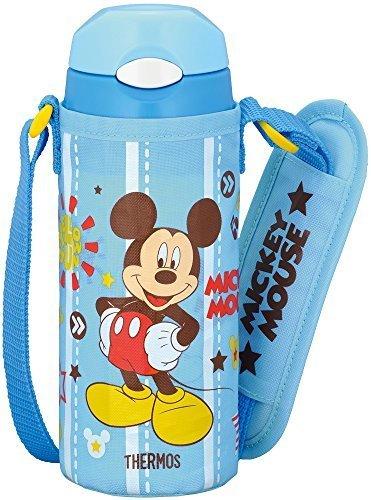 サーモス 水筒 真空断熱ストローボトル ディズニーミッキー 【ワンタッチオープンタイプ】 0.36L スカイブルー FFI-401FDS SKY,小学生,水筒,