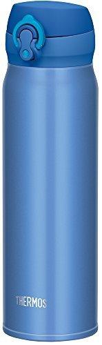 サーモス 水筒 真空断熱ケータイマグ 【ワンタッチオープンタイプ】 600ml メタリックブルー JNL-602 MTB,小学生,水筒,