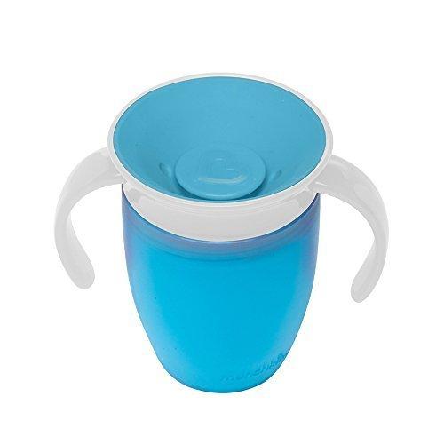 マンチキン(munchkin) ベビー用 マグ こぼれない ハンドル / ふた 付き コップ 6カ月から 上手に飲める 練習 ミラクルカップ 196ml ブルー FDMU10800,ベビーマグ,