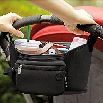 ベビーカー バッグ オーガナイザー ポーチ ジッパーポケット ドリンクホルダー/大容量 収納 バッグ,ベビーカー,バッグ,