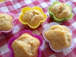 離乳食☆人参&バナナ&きな粉蒸しパン,離乳食,蒸しパン,