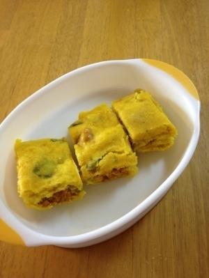 【離乳食】ルクエでかぼちゃ蒸しパン※卵&牛乳不使用,離乳食,蒸しパン,
