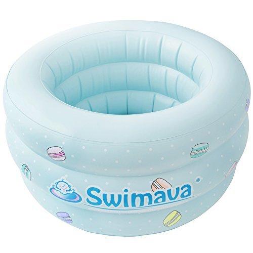 Swimava 【日本正規品60日保証】スイマーバ ふわふわベビーバス マカロンバス SW150GN-P,ベビーバスおすすめ,