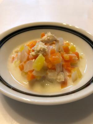 離乳食後期*さつまいもとささみのクリーム煮,さつまいも,離乳食,後期