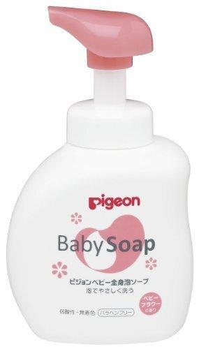 ピジョン 全身泡ソープ フラワーの香り ボトル 500ml (0ヵ月~),ベビーソープ,口コミ,
