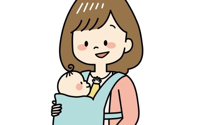 赤ちゃんとママ,抱っこひも,