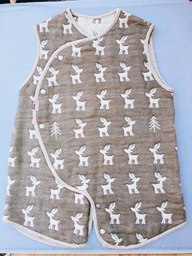 日本製 6重織ガーゼ 2WAYスリーパー 体温調節に 出産祝い 内祝い プチギフト 誕生祝 (トナカイ),スリーパー,夏,