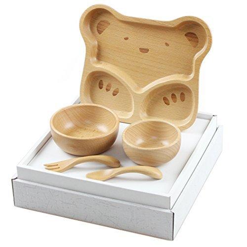 お食い初め 北欧産ブナ材の子ども食器セット くま,ベビー食器,おすすめ,