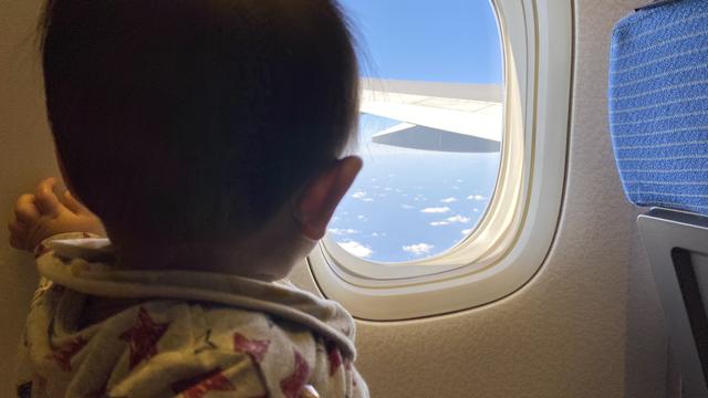 子ども 飛行機,1歳半,子ども,飛行機