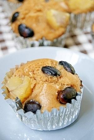 フライパンでできる!栗と黒豆の黒糖蒸しケーキ,子ども,レシピ,年末年始