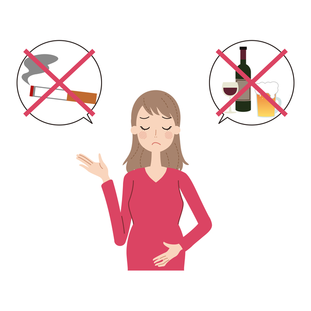 妊婦さんは酒とタバコはNG,妊娠,6週,