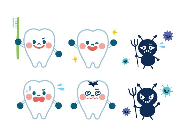 虫歯イメージ,歯みがき,ハミケア,
