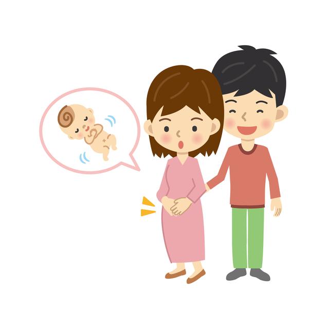 胎動を感じる夫婦,妊娠5ヶ月,