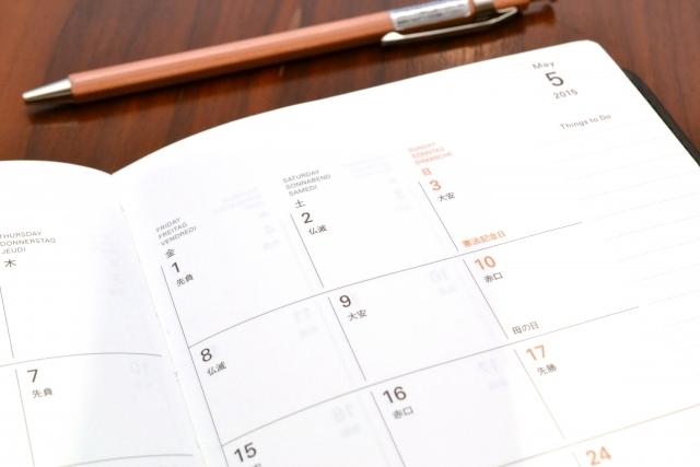 カレンダーの写真,胎動,いつから,