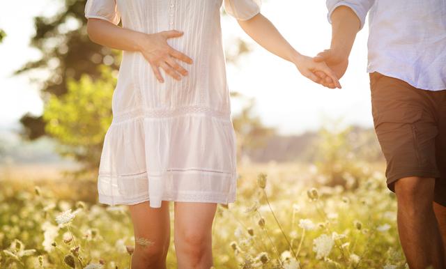 妊婦夫婦,妊娠28週,胎児,