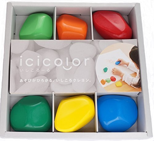 icicolor (イシコロール) 6色セット,1歳,クレヨン,