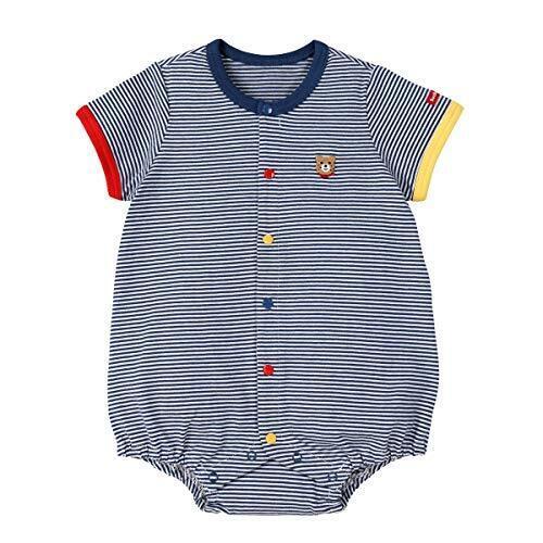 [ミキハウス ホットビスケッツ] ボディシャツ 72-1506-829 (70cm, 紺),ベビー服,ブランド,