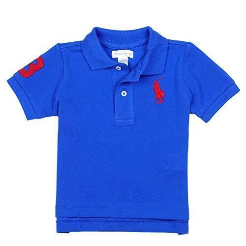 (ラルフローレン)RALPH LAUREN ベビー 男の子 ポロシャツ Cotton Mesh Polo Shirt ブルー サターン Blue Saturn (12M) [並行輸入品],ベビー服,ブランド,