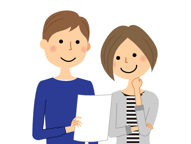 保険の契約を考える夫婦,学資保険,受取人,