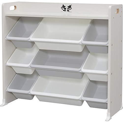 アイリスオーヤマ おもちゃ箱 天板付き ミッキー&ミニー 幅約86.3×奥行約34.8×高さ約79.5cm キッズ トイハウスラック TKTHR-39,子ども,片付け,