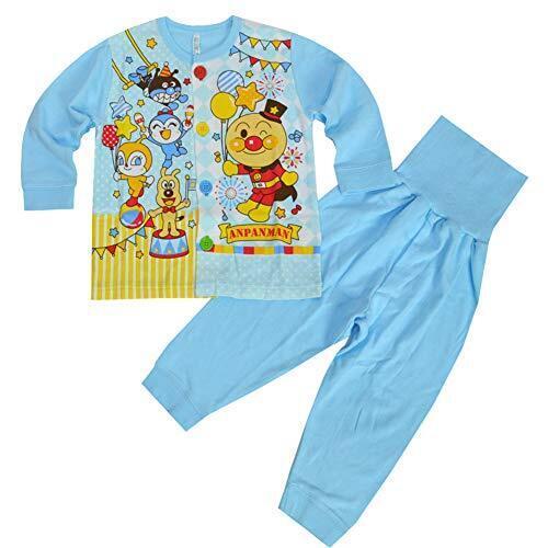 アンパンマン パジャマ 腹巻付き 長袖 お着替え練習 パジャマ 秋物 春物 pz-ap07(サックス,95cm),3歳,できること,