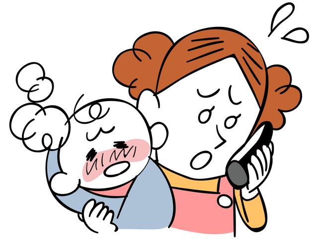 小児救急電話相談イメージ,生後,6ヶ月,赤ちゃん
