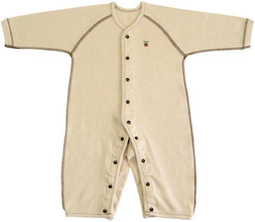 オーガニックコットン スムース 長袖前開きカバーオール肌着 90cm NO20612 日本製,オーガニックコットン,新生児,肌着
