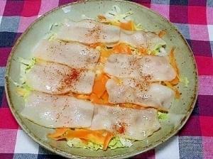 10分で出来る、ベーコンと野菜の簡単蒸し,時短レシピ,副菜,