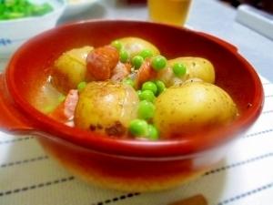 ほっこり春の味覚☆新じゃがとエンドウのコンソメ煮,春野菜,レシピ,