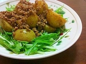 新じゃがのカレーそぼろ餡かけ,春野菜,レシピ,
