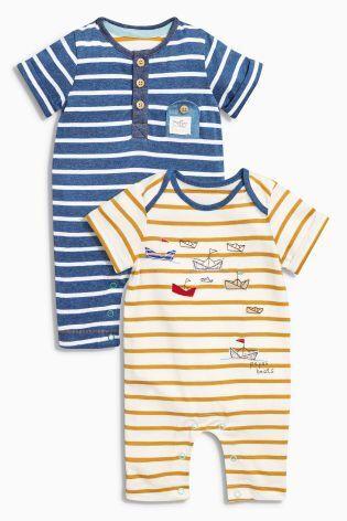 ボート ロンパース 2 枚 パック|NEXT,ベビー服,海外ブランド,