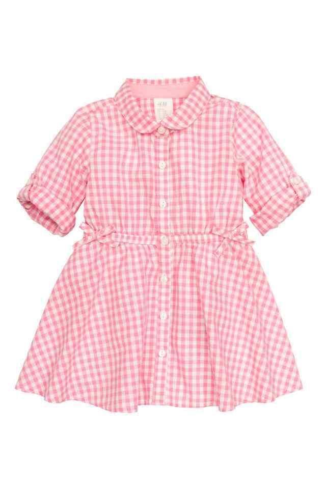 コットンシャツドレス|H&M,ベビー服,海外ブランド,