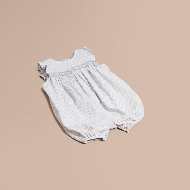 ポルカドットプリント コーデュロイ スモックプレイスーツ,ベビー服,海外ブランド,