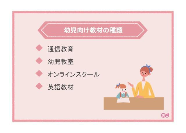 幼児向け教材の種類,幼児教育,おすすめ,