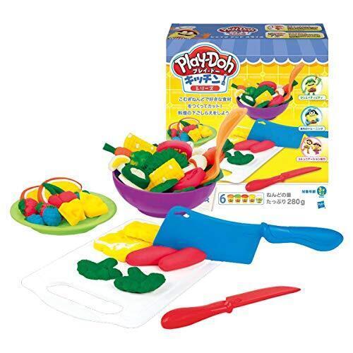 プレイ・ドー キッチンシリーズ シェイプ アンド スライス こむぎねんど B9012 正規品,粘土遊び,幼児,