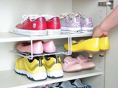 えつこの ファミリー くつ ラック 2個組 <シルバー> (日本製),子ども,靴,収納