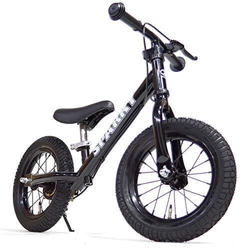 【組立済】【キックスタンド付き】 ブレーキ付ゴムタイヤ装備 ペダルなし自転車 キッズバイク SPARKY スパーキー (BLACK),ペダルなし,自転車,